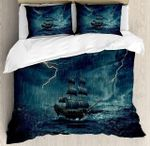 Caribbean Boat Goes In The Storm Bedding Set Bedroom Decor