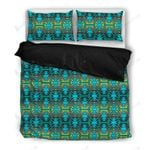 Turquoise Fire 3D Bedding Set Bedroom Decor