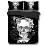 3pcs Black 3d Skull Duvet Cover Bedding Set
