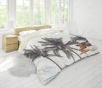 3d Coconut Tree Sea Minibus Bedding Set Bedroom Decor