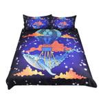 Blue Whale Hot Air Balloon Bedding Set Bedroom Decor