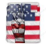American Peace Us Flag Bedding Set Bedroom Decor