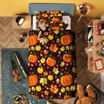 Halloween Pumpkin Bedding Set Bedroom Decor