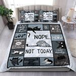 Cat Feeling Tired Nope Not Today Bedding Set Bedroom Decor