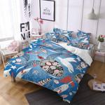 Sea Turtle Pattern Printed Bedding Set Bedroom Decor