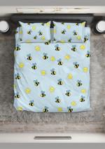 Bee Little Cute Sun Pattern Printed Bedding Set Bedroom Decor