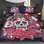 Red Rose Skull Bedding Set 3d Printing