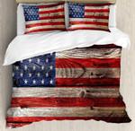 Ambesonne Rustic American Usa Flag Bedding Set Bedroom Decor