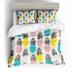 Twill Pineapple Printed Bedding Set Bedroom Decor