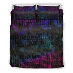 Party Colors Snake Skin 3D Bedding Set Bedroom Decor