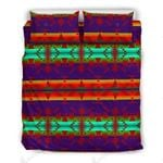 Between The Mountains Purple Red Printed Bedding Set Bedroom Decor