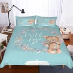 Teddy Bear With Love Printed Bedding Set Bedroom Decor