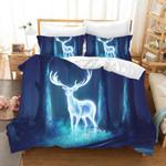 3d Blue Forest Elk Comfortable Bedding Set Bedroom Decor