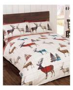 Woodland Christmas Plaid Bedding Set Bedroom Decor