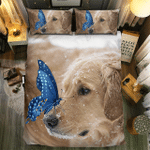 Lovely Dog And Butterfly Bedding Set Bedroom Decor