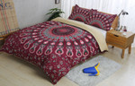 3d Bohemian Indian Circle Comfortable Bedding Set Bedroom Decor
