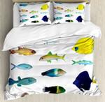 Marine Life Creatures Bedding Set Bedroom Decor