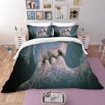 3d Abstract Kiss Bedding Set Bedroom Decor