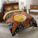 Sun and Moon Pattern Bedding Set Bedroom Decor