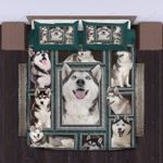 Cute Husky Bedding Set Bedroom Decor