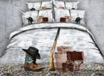 Cowboy Hat And Gun Printed 3d Bedding Set Bedroom Decor