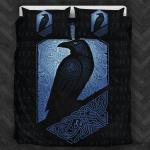 Viking Raven Black And Blue Bedding Set Bedroom Decor