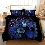 3d Gemini Dark Blue Bedding Set Bedroom Decor