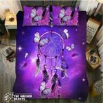 Galaxy Purple Dreamcatcher Butterflys Printed Bedding Set Bedroom Decor