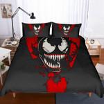 3D Skull Weird Red And Dark Printed Bedding Set Bedroom Decor