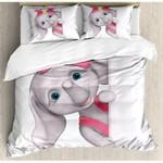 Ambesonne Elephant Nursery Funny Cartoon Bedding Set Bedroom Decor