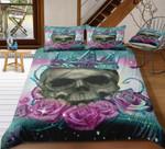 Queen Skull Rose Printed Bedding Set Bedroom Decor