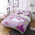 Unicorn Lost In Cattles Printed Bedding Set Bedroom Decor