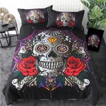 Sugar Skull Diamond Gothic Bedding Set