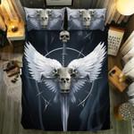 Skull Angles Printed Bedding Set Bedroom Decor