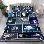 Cut Chibi Cat This Is A Library Bedding Set Bedroom Decor