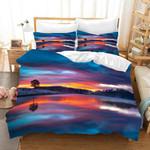 3d Blue Sky Hill River Tree Landscape Bedding Set Bedroom Decor