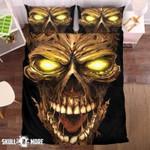 Badass Skull Gold Eye Printed Bedding Set Bedroom Decor