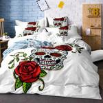 Sugar Skull Rose Printed Bedding Set Bedroom Decor