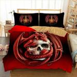 Dragon Bedding 3D Skull Printed Bedding Set Bedroom Decor