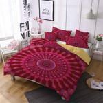 Red Mandala Pattern Printed Bedding Set Bedroom Decor