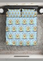 Shih Tzu Frame Lady Printed Bedding Set Bedroom Decor