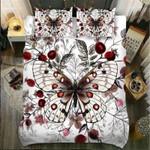 Bufl Red Flowers Printed Bedding Set Bedroom Decor