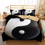 Yin And Yang Taiji Black and White Bedding Set Bedroom Decor