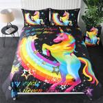 Rainbow Unicorn Dream World Bedding Set Bedroom Decor