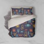3d Blue Eyes Sun Triangle Geometric Comfortable Bedding Set Bedroom Decor