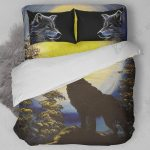 Lone Wolf Howling Bedding Set Bedroom Decor