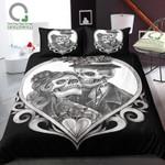 Sugar Skull Couple Printed Bedding Set Bedroom Decor