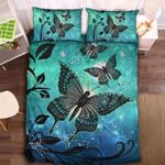 Green Galaxy Ulysses Butterfly Printed Bedding Set Bedroom Decor