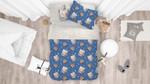 3d Blue Cat Kitty Birthday Cake Bedding Set Bedroom Decor