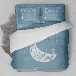 Mom And Dad Love You To The Moon And Back Bedding Set Bedroom Decor